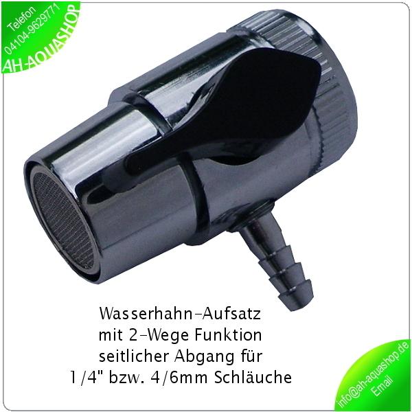 wasserhahn aufsatz 2 wege funktion 1 4 abgang f r osmoseschlauch adapter neu ebay. Black Bedroom Furniture Sets. Home Design Ideas