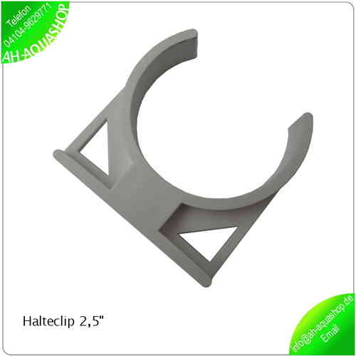 "Halteclip / Klammer 2,5"" mit Wandmontage-Option"